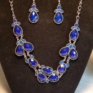 Royal Blue & Teal necklace set
